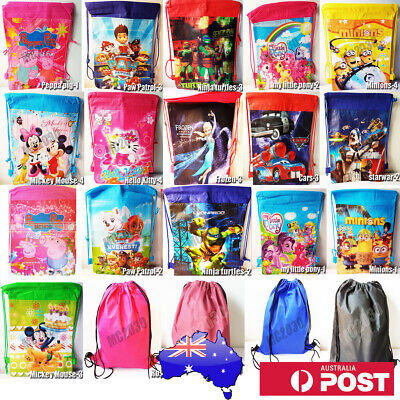 Cartoon/Plain Colour Drawstring Backpack Swim School Library BAG GYM Kid/Adult