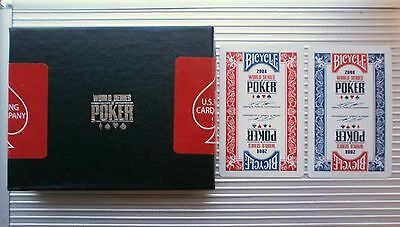 100% Plastic Playing Cards - Tournament Used World Series Of Poker 2 Deck Set