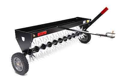 Brinly Tow Behind Spike Aerator with Transport Wheels 40-Inch Green Healthy LAWN