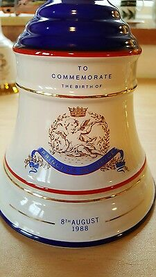 Wade - Bells Scotch Whisky Decanter Commemorating Birth Of Princess Beatrice