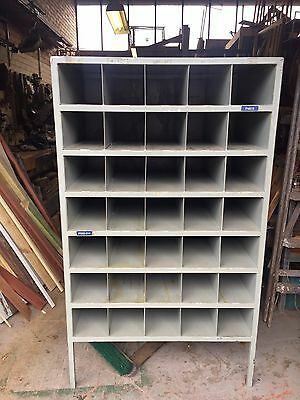 **Heavy duty workshop steel pigeon hole cabinet **