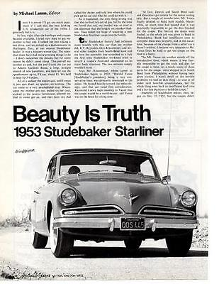 1953 Studebaker Starliner  ~  Great 7-Page Article / Ad