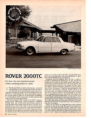 1969 Rover 2000Tc ~ Original 4-Page Road Test / Article / Ad