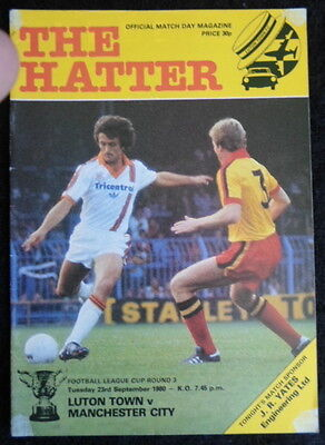 Luton Town v Manchester City    league cup round 3      23-9-1980