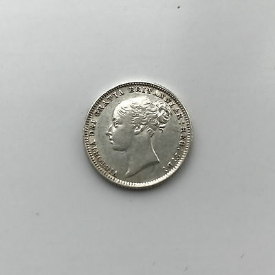 Silver Sixpence 1873 Queen Victoria Extremely Fine Grade