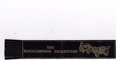 Leather Bookmark - The  Muckleburgh Collection, Norfolk.