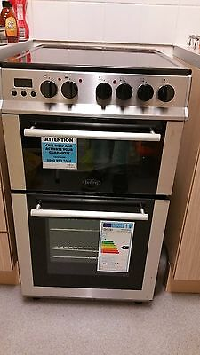 Belling FS50EDOPC 50cm Double Oven Electric Ceramic Cooker Stainless Steel