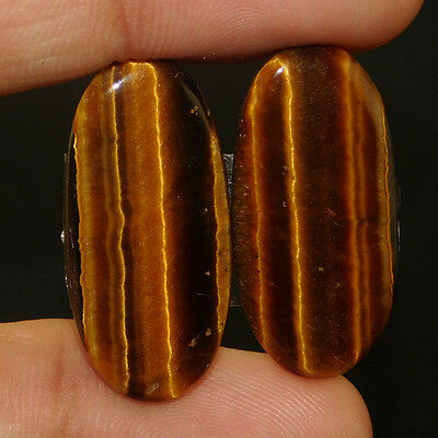 28Cts AAA Quality  27X13 MM Tiger Eye Pair Loose Gemstone Free Shipping