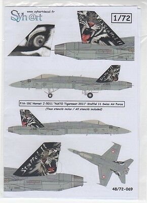 F/a-18C Hornet Swiss Af Syhart Decals 72069 1/72