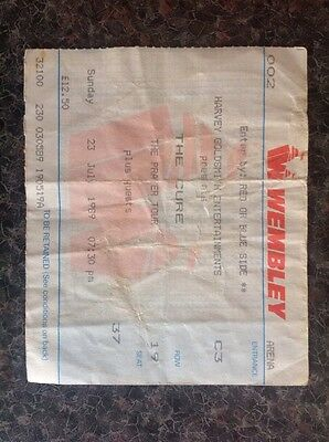 The Cure - Wembley Arena Concert Ticket Stub - 23rd July 1989