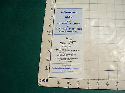 vintage HIGH GRADE travel MAP: Recreational Map & business direcctory WAKEFIELD