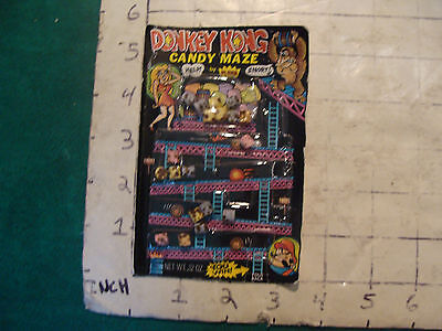 DONKEY KONG candy maze unused, unopened, but dont eat the candy 1983