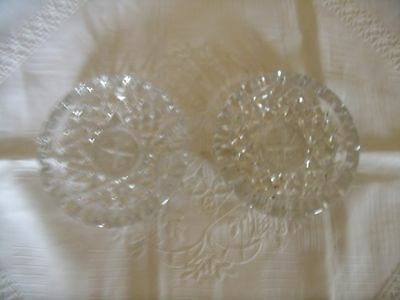 Festival Of Britain Glass Pintrays Pair Of