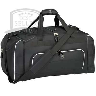 Duffel Bag Wet Shoe Pocket Gym Fitness Travel Luggage Sports Bags Black NEW