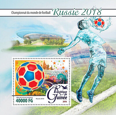 Guinea 2016 MNH World Cup Football Russia 2018 1v S/S Stadiums Soccer Stamps