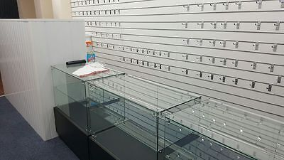 Glass Display Counter with storage and keys