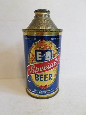 Vintage Nice Clean E and B Special Detroit Michigan IRTP Cone Top Beer Can