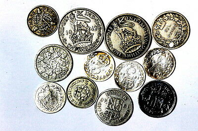 Collection Of Silver, Pre 1947 Sixpence,threepence,shilling, A4