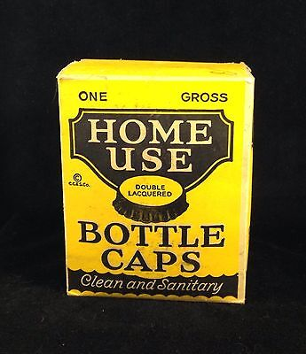Crown Cork Home Use Brand Bottle Caps - One Gross - Sealed
