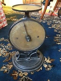 Antique / Vintage cast iron and brass scale