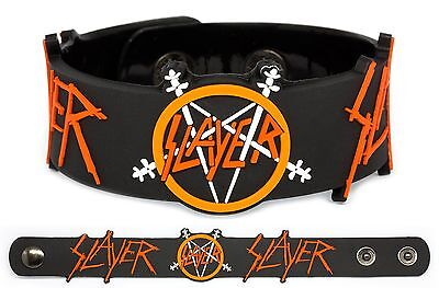 SLAYER Rubber Bracelet Wristband Repentless World Painted Blood