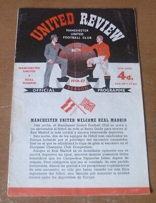 Manchester United v Real Madrid, 1956/57 - European Cup Semi-Final Programme.