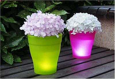 SET OF 4  LED LIGHT...... Battery Operated LED Flower Pot Planter