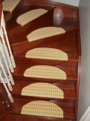 Premium Carpet Stair Tread Mats Runners  Set Of 15 ( 9 Patterns To Choose From)