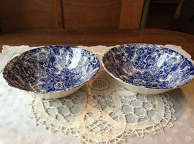 """LAURA ASHLEY CHINTZ WARE CEREAL BOWLS X 2 (6.5"""") Dia.(Made in Staffordshire)VGC"""