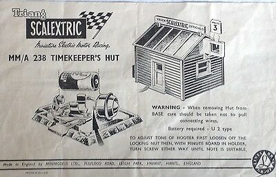 SCALEXTRIC Instructions for Timekeeper's Hut