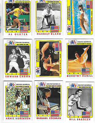 History's Greatest Olympians card set 1983 and binder