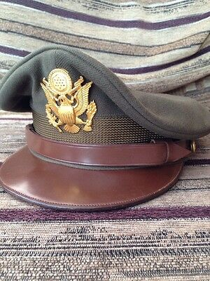 WW2 USAAF Army Officers Service Cap US USA Original Non Crusher