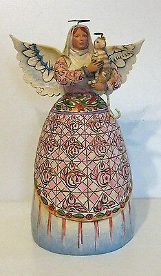 "Jim Shore Heartwood Creek ""Eternal Companions"" Angel & Angel Tiger Cat Figurine"