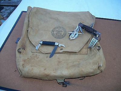 Vintage Canvas Backpack Boy Scouts of America National Council NY with multitool