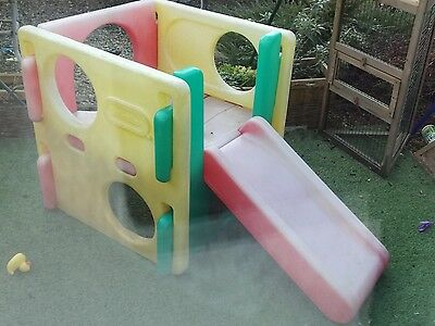 little tikes climbing cube frame and slide