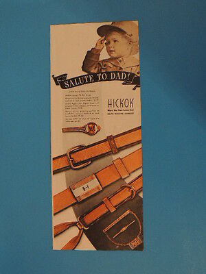 1944 Salute To Dad! Hickok-Belts, Braces, Jewelry Photo Art Ad