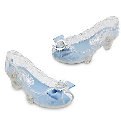 NEW Disney Store Cinderella Light-Up Costume Shoes 11/12 Clear Glass Slippers