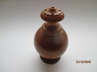 Superb Antique Treen Turned Boxwood Wig Powderer Or Pepper Pot