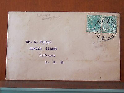Rare NSW 1913 FRED HAGEN Sydney COVER QV 1/2d Green SHADES VARIETY JOINED PAIR