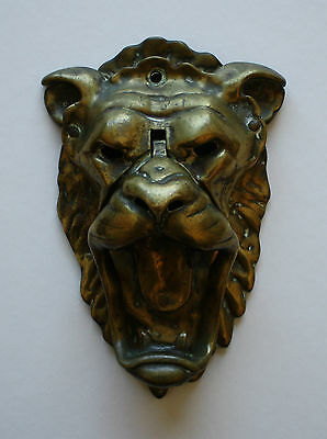 Majestic Lion's Head Solid Brass Door Knocker