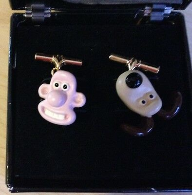 Wallace and Gromit cufflinks