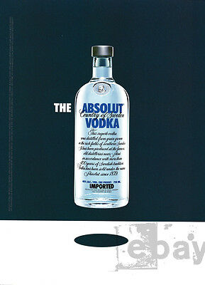 The Absolut Vodka 1-pg clipping ad 2006 Floating Bottle