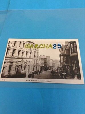 High Street Haverfordwest Pembrokeshire Real Photo Card