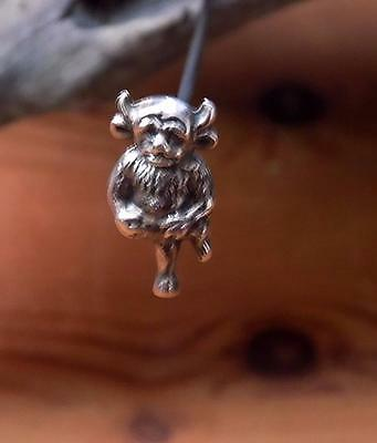 Unusual Victorian/Edwardian Silver Lincoln Imp Hat Pin