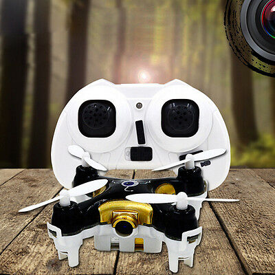 Cheerson CX-10C Mini 2.4G 4CH 6 Axis LED RC Quadcopter with Camera RTF Black new