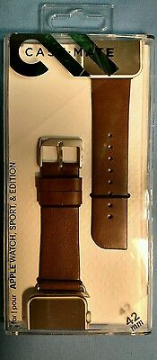 Genuine Case Mate Signature Smartwatch Band Apple Watch 42mm Tobacco CM032795