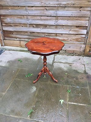 19th Century style inlaid side table /lamp table Reproduction. Collection only.
