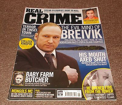 REAL CRIME MAGAZINE No.15 - ANDERS BREIVIK  FRONT COVER