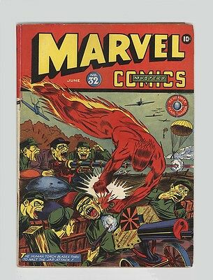 Marvel Mystery Comics #32 - Rare Timely - Gruesome Japanese War Cover 1942