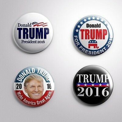 4 DONALD TRUMP PRESIDENTIAL ELECTIONS 2016 - Pinbacks Badge Button Pin 25mm 1''